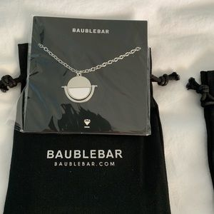 BaubleBar silver and white necklace. New